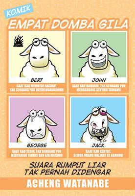 komik-empat-domba-gila